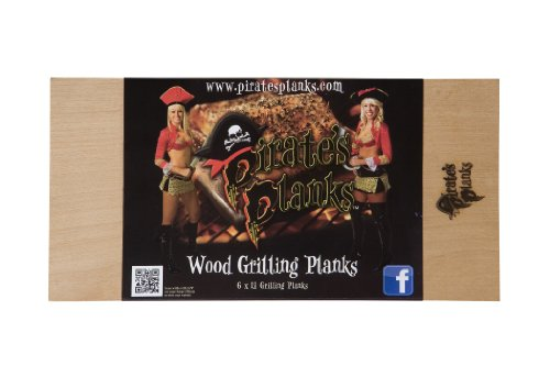 Cherry Plank Table (Pirate's Planks Assorted Grilling Planks- (1 each Alder, Cedar, Hickory, Oak, Cherry, Maple) 3/8x6x12)