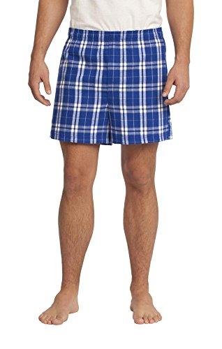Flannel Plaid Boxer XL Deep Royal (Blue Flannel Boxer)