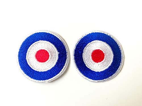 Tyga_Thai Brand Set 2 pcs. Mini Cute Archery Targets Jacket T-Shirt Sew Iron on Embroidered Applique Badge Sign Patch (Iron-Mini-Archery-Targets)