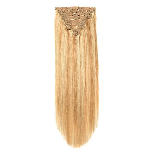 """20"""" Hair Extension Clip in Human Hair Clip on Extensions for"""