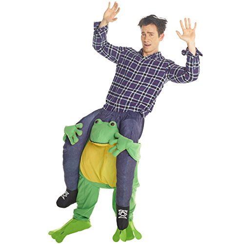 MorphCostumes Men's Piggyback Costume Adult, Frog, One Size