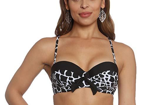 Sun and Sea Missy Retro Moulded Cup Bikini Top Giraffe Print-6