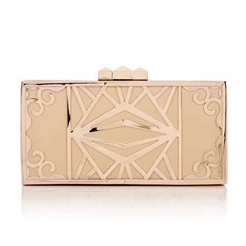 a Shell Borsa Clutch Black Party Gold Large Handbag Color Hard Serata Diamond tracolla Borsa tracolla Hungrybubble Purse a f1vzv