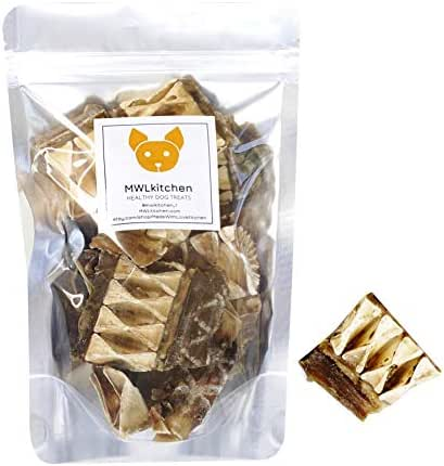 Made With Love Kitchen Shark Cartilage Jerky Treat 5oz. Premium Organic Human Grade Dog Treats Free of Grain,Gluten Omega3 Glucosamine Joint and Hip Jerky All Natural No Preservatives and Filler