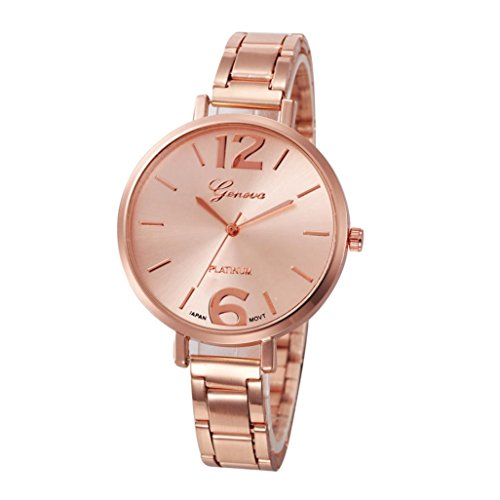 CLEARANCE!! Watches Sonnena Women's Crystal Analog Watch Quartz Wrist Watch, HOT SALE 2018 Wrist Watch for Party Club Casual Watches Valentine's Day Gift Stainless Steel Watch … (Watch, Rose Gold)