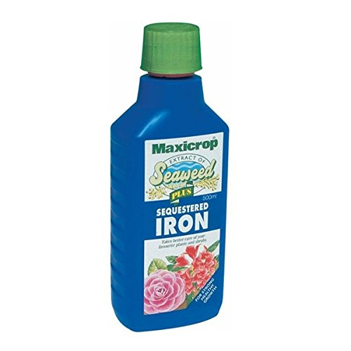MAXICROP PLUS SEQUESTERED IRON WITH NATURAL SEAWEED EXTRACT 500ML *Fast Postage*