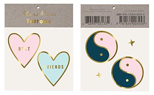 Meri Meri Best Friend Tattoo - 6 Pack Bundle