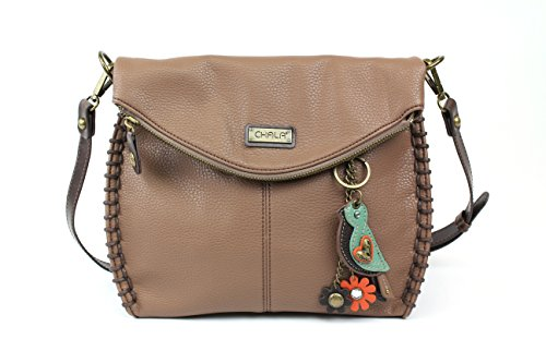 Chala Charming Crossbody Bag with Zipper Flap Top (Mini Bird)