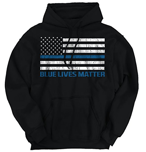 Pro Life Sweatshirt (Blue Lives Matter Thin Blue Line Flag Police Cops Support)