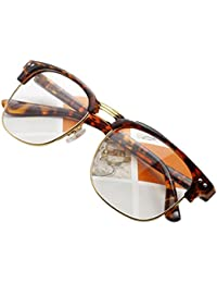 Unisex Hipster Vintage Retro Classic Half Frame Glasses...