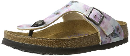 Papillio Gizeh Birko-Flor Softfootbed, Chanclas Para Mujer Mehrfarbig (Pixel Rose Soft)