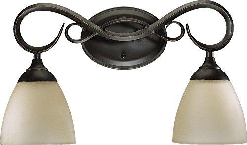 Quorum 5108-2-95 Powell Vanity, 2-Light, 200 Total Watts, Old World