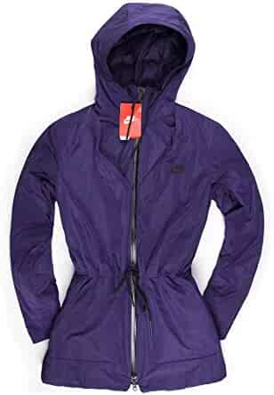 5785bcf9c046 Nike Womens Insulated Down Hooded Parka Jacket Purple (Medium)