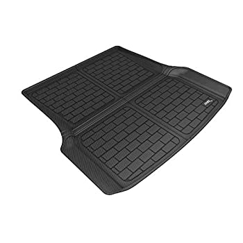 Image of Cargo Liners 3D MAXpider M1TL0001309 Custom Fit All-Weather Kagu Series Cross Fold Rear Cargo Liner in Black for Select Tesla S Models