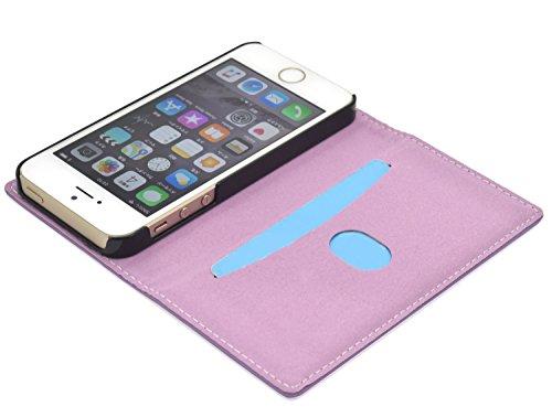 PLATA iPhone5 / iPhone5s / iPhoneSE ケース 手帳型 ラム シープスキン 羊革 本革 レザー カバー 【 グリーン 緑 みどり green 】