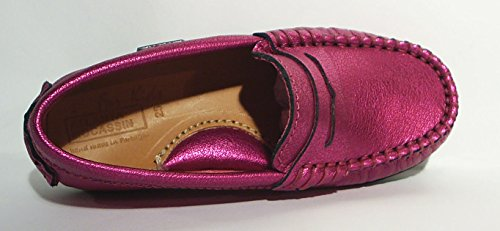 Atlanta Leder Mokassins Slipper Halbschuhe metallic pink