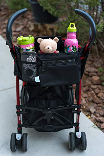 Baby Stroller Organizer Bag, Tray, Bottle Cup Holder, with Multiple Pockets & Compartments for Phone, Money, ID, Sunglasses, Snacks, Coffee, Extra Diaper. Separate Zippered Removable Pouch by Colico (Image #6)