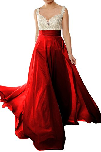 Gorgeous Lace Dress Formal 2018 Evening Prom Straps Chiffon Burgunderrot Long MACloth Gown 6wFgxTdqaa