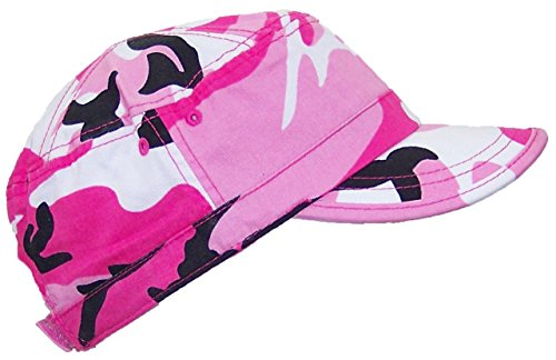 MG Women's Twill Enzyme Washed Adjustable Ballcap W/Pre-Curved Bill (One Size) - Pink Camo