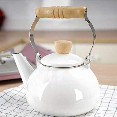 HLJ Bouilloire à thé Flasque café Pot Cooker Ménage épaissie Jug, blanc, 14,4 * 12.5cm