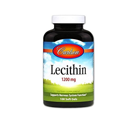 (Carlson Labs Lecithin 1200mg Soft Gels, 100 Count)