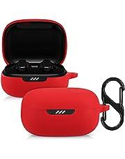 kwmobile case compatibel met JBL Live Pro Plus - Hoesje voor oordopjes in rood