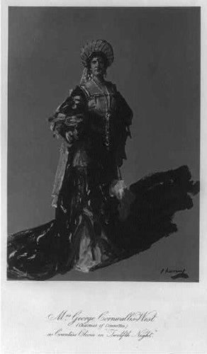 Photo: Jennie Jerome,Lady Randolph Churchill,1854-1921,as Countess Olivia,Twelfth - Olivia Jerome