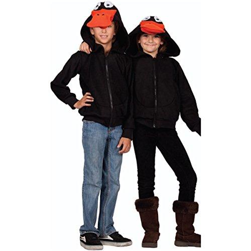 RG Costumes Boy 40536-M Laffy Duck Hoodie Costume, Black, Medium -