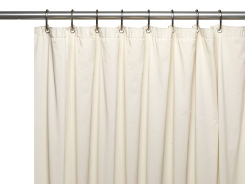 Carnation Home Fashions Extra Long Mildew-Resistant, 10 Gauge Vinyl Shower Curtain Liner with Metal Grommets and Reinforced Mesh Header, 70