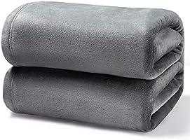 Bedsure Kuscheldecke Flauschige Decke, extra weich& warm Wohndecke in Wohnzimmer, Flanell Fleecedecke, Falten...