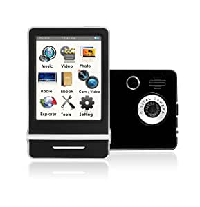 Ematic 8 GB Video MP3 Player with 3-Inch Touchscreen, Built-in 5MP Digital Video Camera, FM Radio, and Speaker (Black)