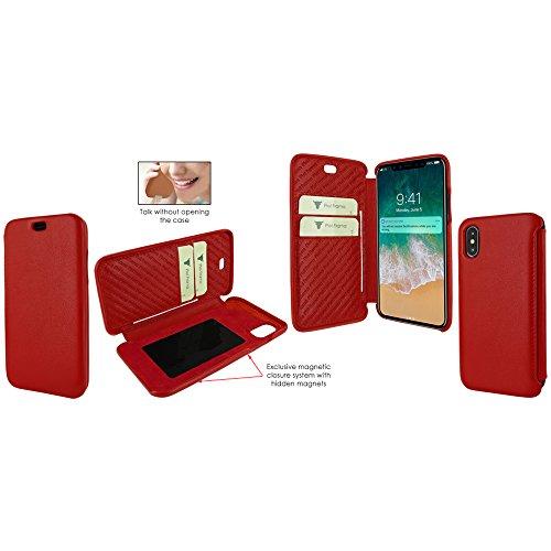 Piel Frama U794R Case ''Emporium'' for iPhone X - Red by Piel Frama (Image #4)