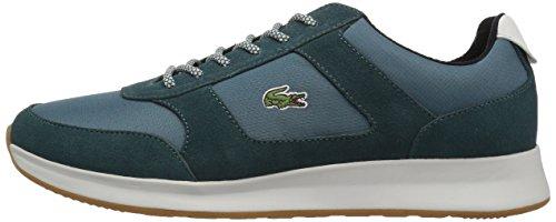 Lacoste Men's Joggeur 417 1 Sneaker, Dark Green/Black, 7.5 M US