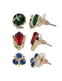 Nintendo - Legend of Zelda - Zelda 3 Pack Stone Stud Earrings
