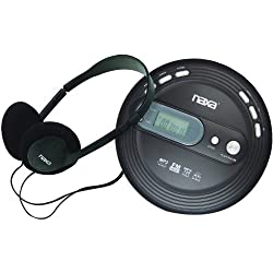Naxa Electronics Npc-330 Slim Portable Cd & Mp3 Player With Fm Radio & Anti-shock Technology