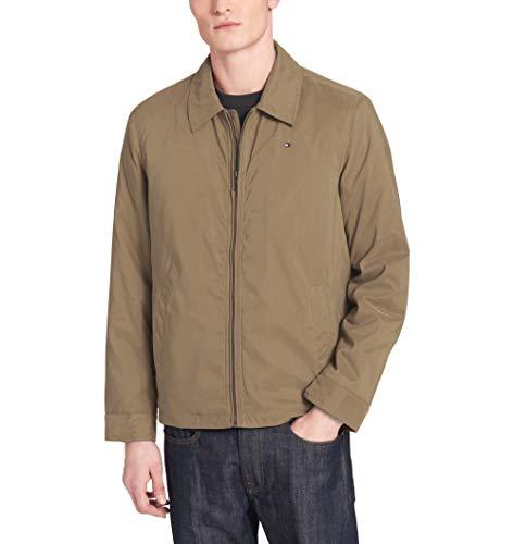 - Tommy Hilfiger Men's Size Tall Micro Twill Laydown Collar Golf Jacket, Khaki, XL Long/TA