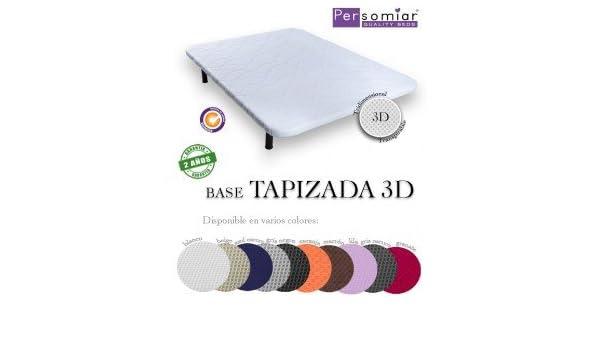 Persomiar Base tapizada 3D - Azul, Patas Metálicas (18€), 150X180: Amazon.es: Hogar