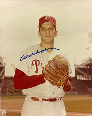 Autographed Art Mahaffey Photo Philadelphia Phillies