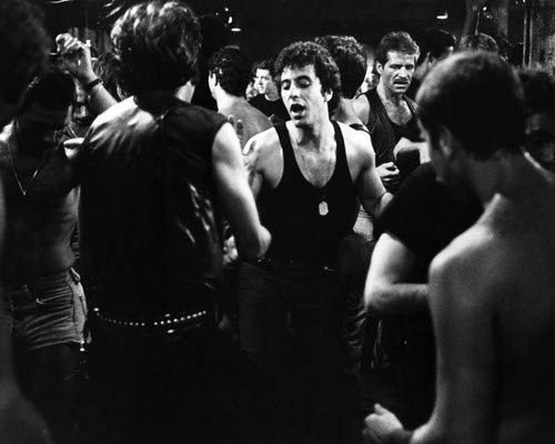 - Al Pacino in Cruising in sleeveless black t-shirt dancing in club 8x10 Aluminum Wall Art