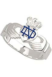 Notre Dame Claddagh Ring Sterling Silver Mens