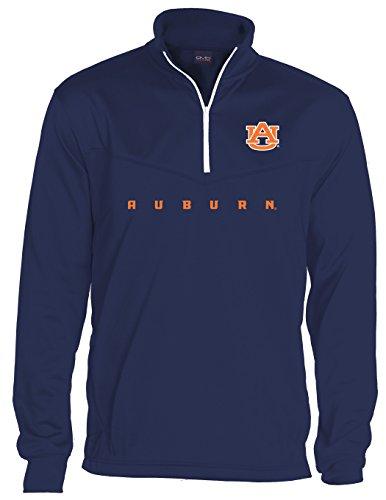 Fleece Tigers (NCAA Auburn Tigers Men's Big Qtr Zip Fleece Sweatshirts, XX-Large/Tall, Navy)