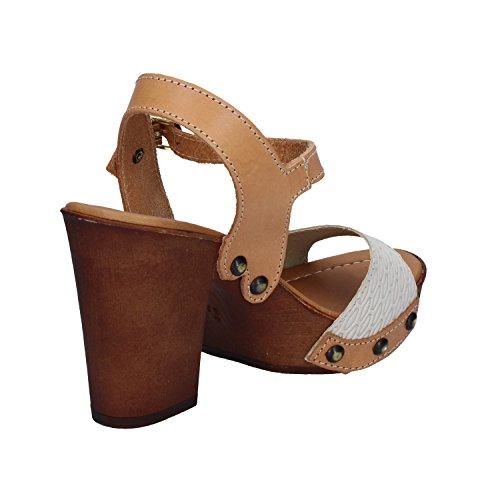 Made Italy Sandalias de Vestir Para Mujer Marrone cuoio Beige