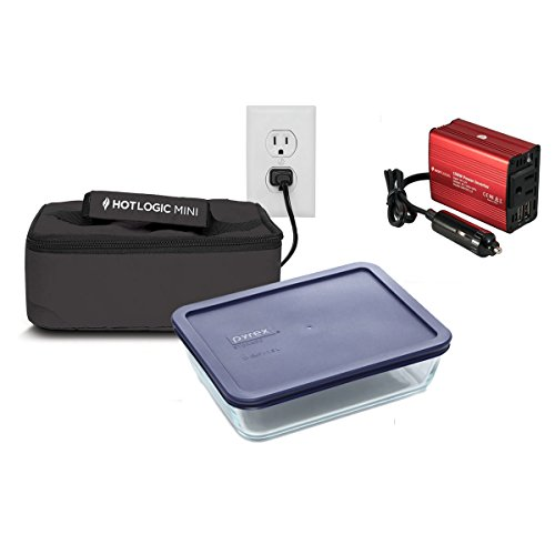 - Hot Logic Mini - Deluxe Package with 6 Cup Glass Dish and 150Watt Hot Logic Power Inverter For Vehicle Use - Black