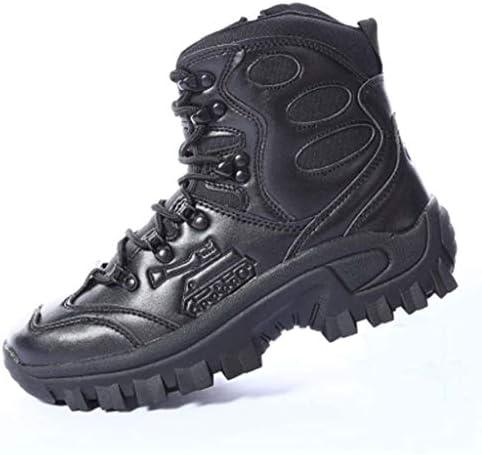砂漠の戦闘ブーツのCortexは暖かいハイヘルプレースアップスタイルの登山靴快適なクッション滑り止め耐摩耗ラバーソールをキープ (色 : 黒, サイズ : 26 CM)