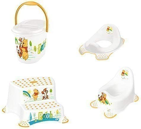 Orange OKT Kids 11801456063 Nappy Bucket Funny Farm Apricot