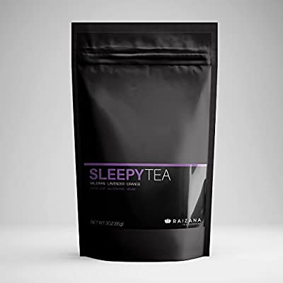 SleepyTea Sleep Aid Tea Passionflower Valerian Lavender Chamomile Orange 3oz 40 Cups BEST VALUE