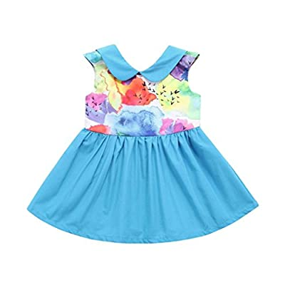Baby Clothes Sets, Toddler Girls Ink Painting Print Backless Dresses Outfits by WOCACHI