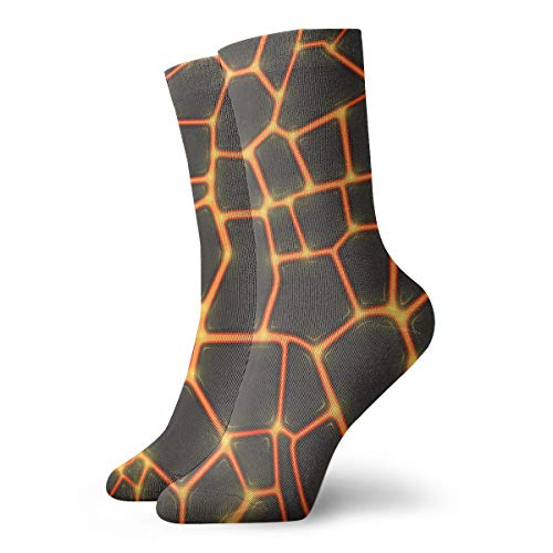 Jokerbilibili Seamless Lava Or Fire Texture Unisex Print Athletic Quarter/Ankle Running Hiking Socks-Weekend Lounge Short Crew Socks