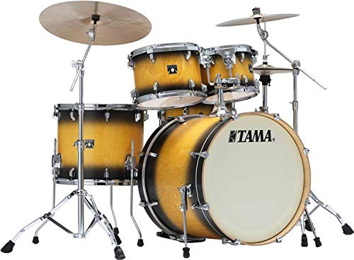 Tama Superstar Classic Exotix 5-piece Shell Pack - Black Sunburst Lacebark Pine