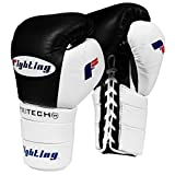 Fighting Sports Tri-Tech Tenacious Lace Training Gloves, Black/White, 18 oz